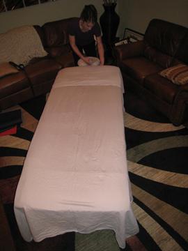 In home therapeutic massage