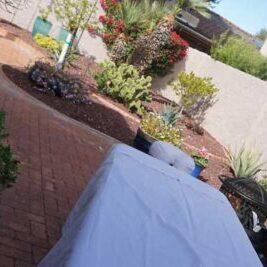mobile massage on patio in Phoenix AZ